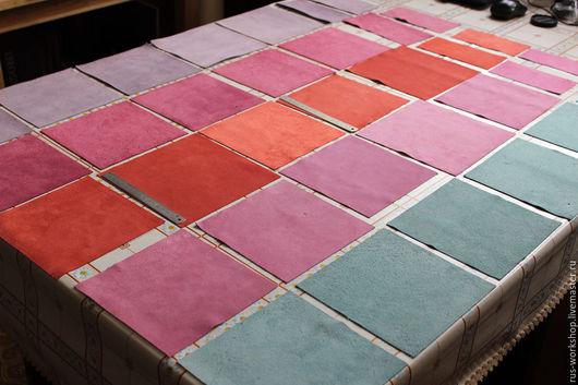 Другие виды рукоделия ручной работы. Ярмарка Мастеров - ручная работа. Купить Замша, спилок, Весенний набор №7.. Handmade.