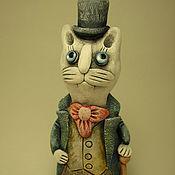 Куклы и игрушки ручной работы. Ярмарка Мастеров - ручная работа Керамические миниатюры. Коты в галстуках.. Handmade.