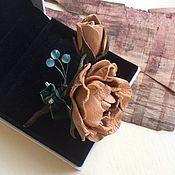 Украшения ручной работы. Ярмарка Мастеров - ручная работа Брошка из кожи роза. Handmade.