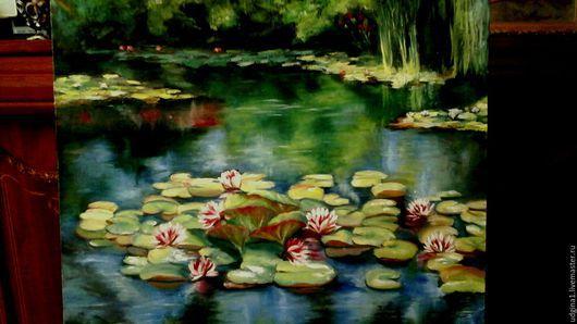 Пейзаж ручной работы. Ярмарка Мастеров - ручная работа. Купить Старый пруд. Handmade. Холст, пруд, старый пруд