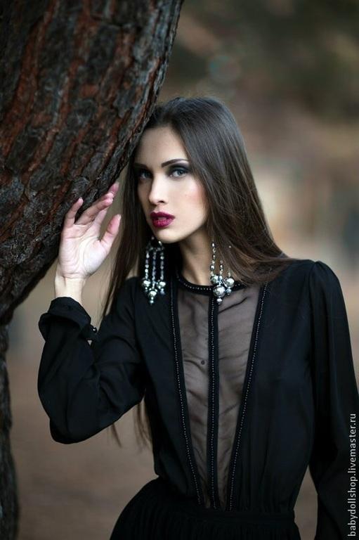 """Платья ручной работы. Ярмарка Мастеров - ручная работа. Купить Платье """"Noir-Baby"""". Handmade. Черный, платье вечернее"""