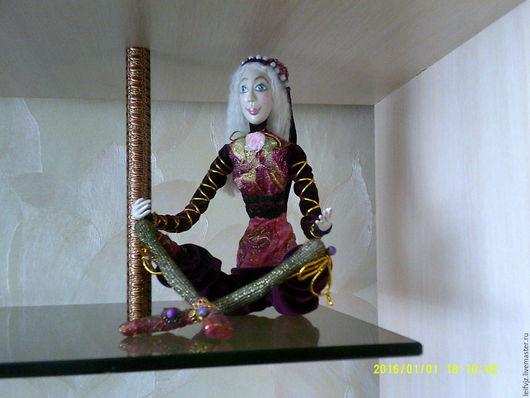 Коллекционные куклы ручной работы. Ярмарка Мастеров - ручная работа. Купить Кукла Лиза. Handmade. Бордовый, кружева, кружево, бусины