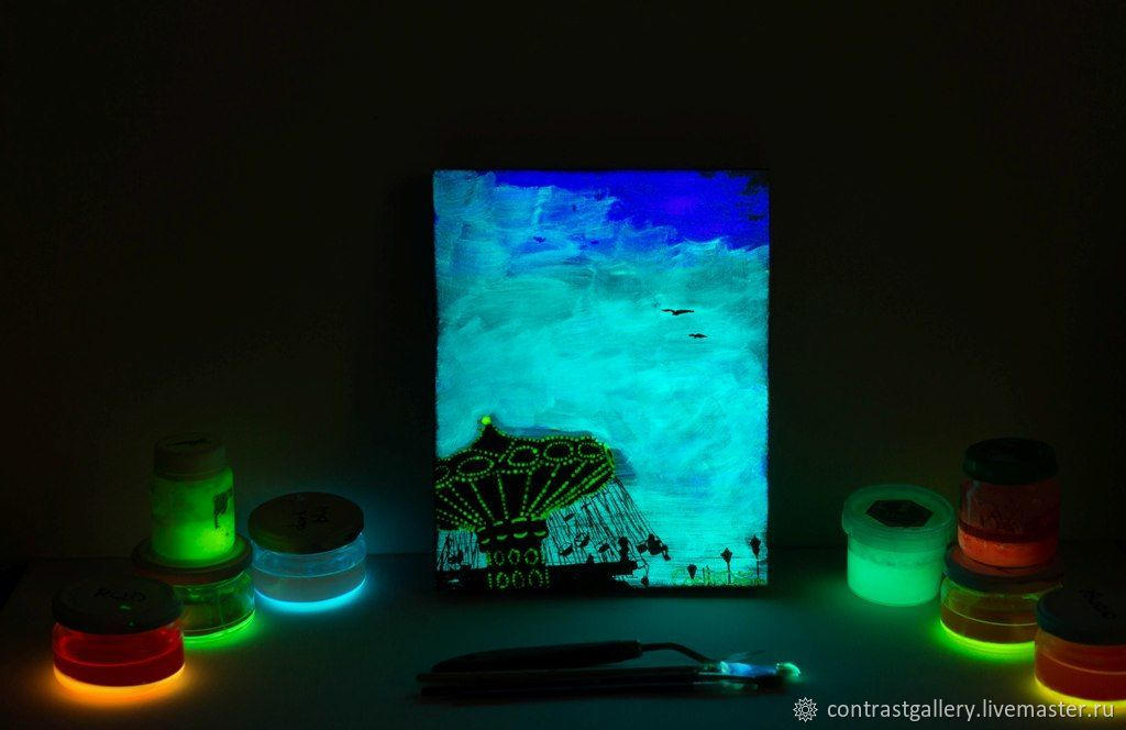 Светящаяся в темноте картина «Карусель», Картины, Вязьма,  Фото №1