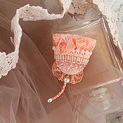 Украшения handmade. Livemaster - original item Brooch Color Peach. Handmade.