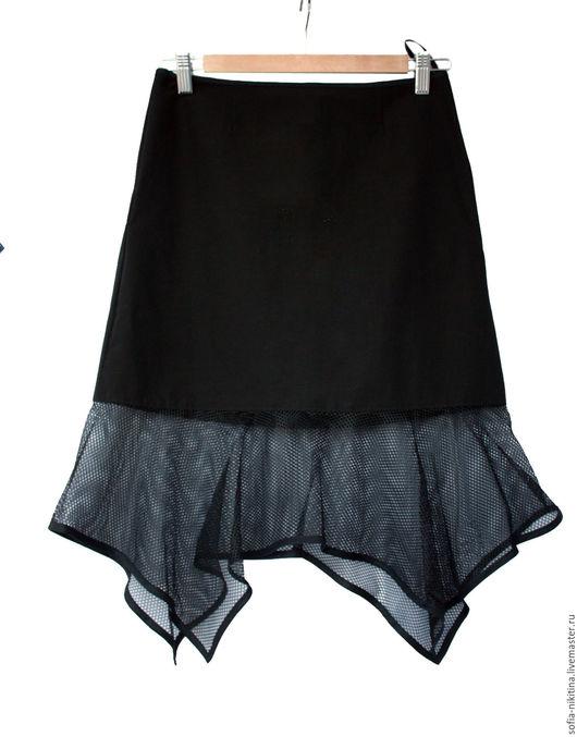 Юбки ручной работы. Ярмарка Мастеров - ручная работа. Купить Юбка  сеткой. Handmade. Черный, юбка, сетка, стрейч, сетка