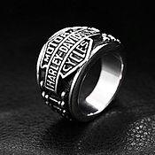 Украшения handmade. Livemaster - original item Ring Harley Davidson from jewelry steel. Handmade.