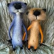 Куклы и игрушки ручной работы. Ярмарка Мастеров - ручная работа коты апрельские. Handmade.