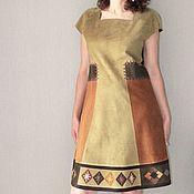 handmade. Livemaster - original item Suede dress. Handmade.