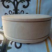 Материалы для творчества handmade. Livemaster - original item Billet box (diameter 11 cm). Handmade.