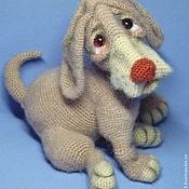 Куклы и игрушки ручной работы. Ярмарка Мастеров - ручная работа Игрушка вязаная крючком Грустный щенок. Handmade.