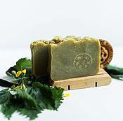 Soap handmade. Livemaster - original item Campaniae natural soap with nettle green Solid shampoo. Handmade.