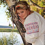 Русский стиль handmade. Livemaster - original item Maiden shirt