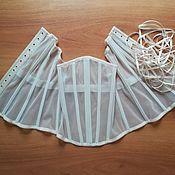 Одежда handmade. Livemaster - original item Transparent underwear corset flesh-peach Plus size. Handmade.