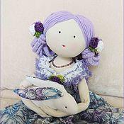 Куклы и игрушки ручной работы. Ярмарка Мастеров - ручная работа Кукла текстильная интерьерная с кроликом Фея Садовница. Handmade.