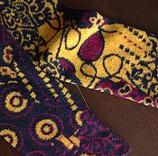 Аксессуары ручной работы. Ярмарка Мастеров - ручная работа Гетры шерстяные жёлтые. Handmade.