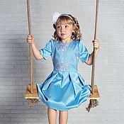Платья ручной работы. Ярмарка Мастеров - ручная работа Голубое платье «Морозко». Handmade.