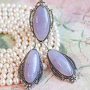 Украшения handmade. Livemaster - original item Sapphire agate (earrings and ring) (319). Handmade.