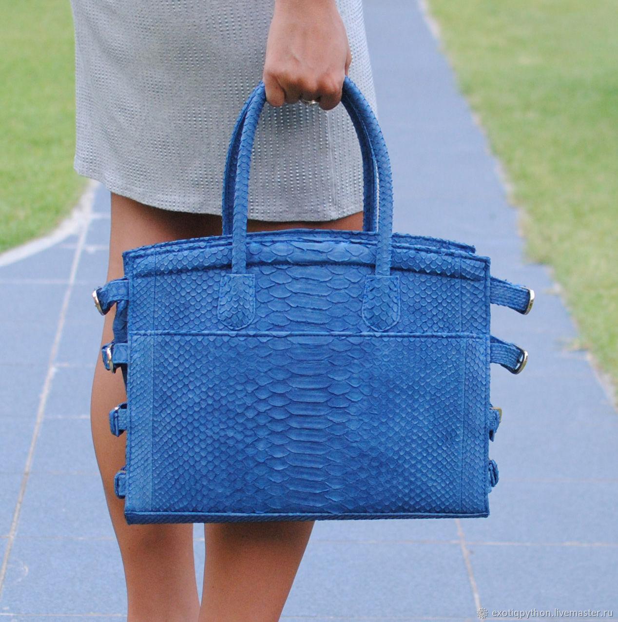 Blue Sky Python skin bag, Classic Bag, Moscow,  Фото №1