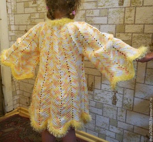 """Одежда для девочек, ручной работы. Ярмарка Мастеров - ручная работа. Купить Вязаное детское пальто """"Крылья бабочки"""". Handmade. Пальто"""