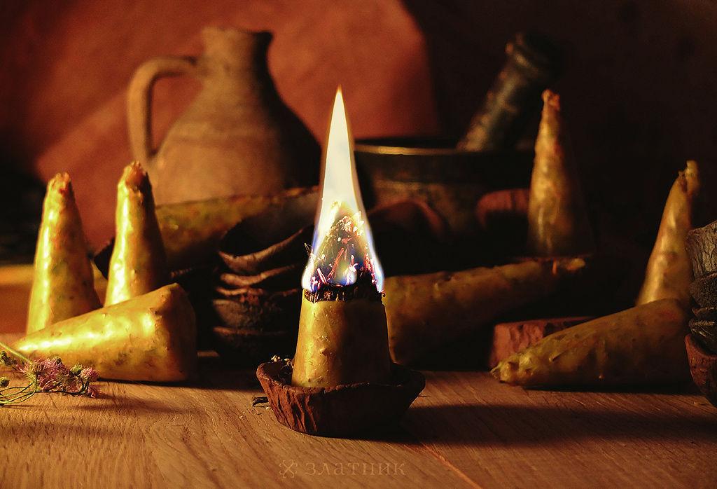 Травяные свечи, бесфитильные свечи, волшебные свечи, колдовские свечи, ведьмины свечи, восковые свечи ручной работы