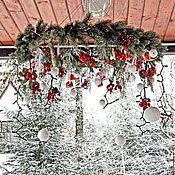 Подарки к праздникам ручной работы. Ярмарка Мастеров - ручная работа Подвесной рождественский венок Були-Були. Handmade.