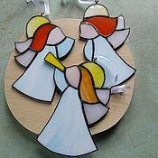 Витражи ручной работы. Ярмарка Мастеров - ручная работа Ангелы. Handmade.