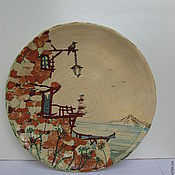 "Посуда ручной работы. Ярмарка Мастеров - ручная работа Декоративная тарелка ""Старый замок"". Handmade."