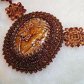 Украшения handmade. Livemaster - original item Pendant: Amaterasu bead decoration, embroidery. Handmade.