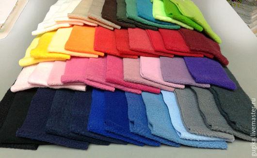 Шитье ручной работы. Ярмарка Мастеров - ручная работа. Купить Флис(45 цветов). Handmade. Комбинированный, ткань для рукоделия