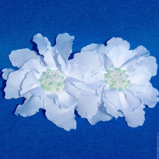 Заколки ручной работы. Ярмарка Мастеров - ручная работа. Купить «Белая орхидея» («White Orchid»).. Handmade. Белый, заколка-цветок