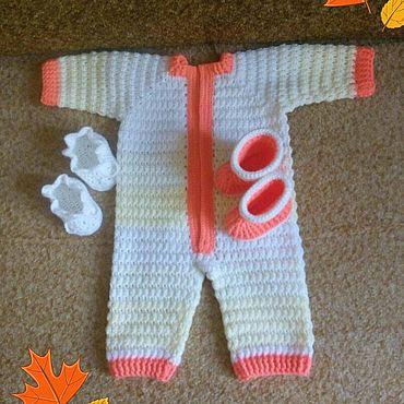 Одежда ручной работы. Ярмарка Мастеров - ручная работа Комбинезоны: костюм для малыша. Handmade.