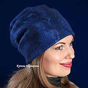 Аксессуары handmade. Livemaster - original item The hat felted.female.blue.transformer. Handmade.