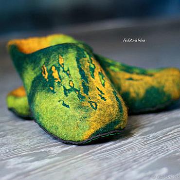 """Обувь ручной работы. Ярмарка Мастеров - ручная работа Тапочки валяные """"Бразилия"""". Handmade."""