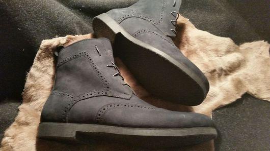Обувь ручной работы. Ярмарка Мастеров - ручная работа. Купить Зимние мужские ботинки. Handmade. Ботинки, броги, натуральная кожа