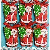 Сувениры и подарки ручной работы. Ярмарка Мастеров - ручная работа Пряник на елку Дед Мороз. Handmade.