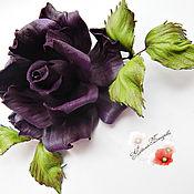 """Украшения ручной работы. Ярмарка Мастеров - ручная работа цветы из кожи, брошь из кожи"""" Изабелла""""  украшение. Handmade."""