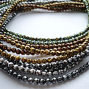 Материалы для творчества handmade. Livemaster - original item Hematite faceted beads 3mm, 5 colors, 19cm strand. Handmade.