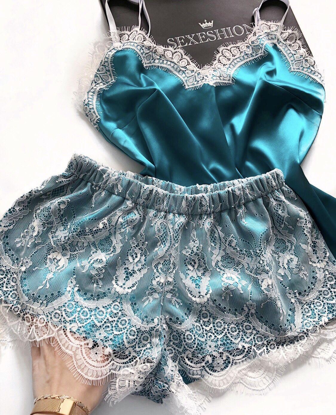 56ae7a1078b2 Белье ручной работы. Ярмарка Мастеров - ручная работа. Купить Атласная  пижама с кружевом.