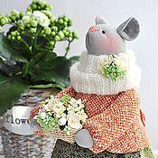 Куклы и игрушки ручной работы. Ярмарка Мастеров - ручная работа Мышка с первоцветами. Handmade.