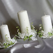 Свадебный салон handmade. Livemaster - original item Wedding candle