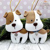 Сувениры и подарки handmade. Livemaster - original item Puppies. The dog felt. Handmade.