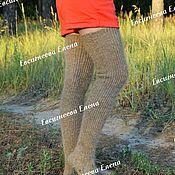 Аксессуары handmade. Livemaster - original item Fashionable down Stockings
