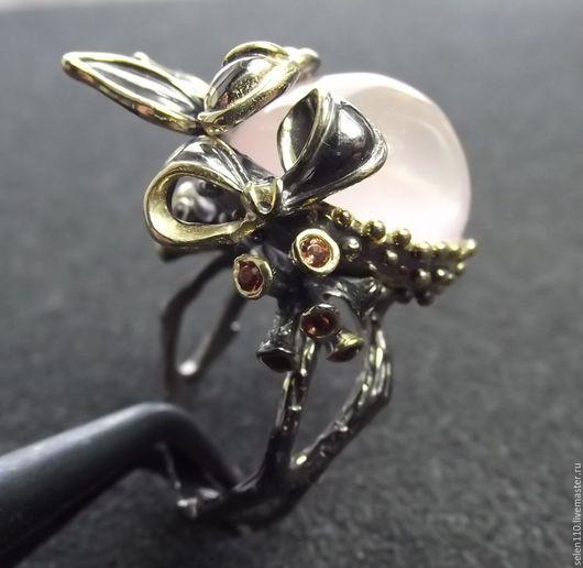"""Кольца ручной работы. Ярмарка Мастеров - ручная работа. Купить Кольцо """"Charlize"""". Handmade. Бледно-розовый, кольцо ручной работы"""