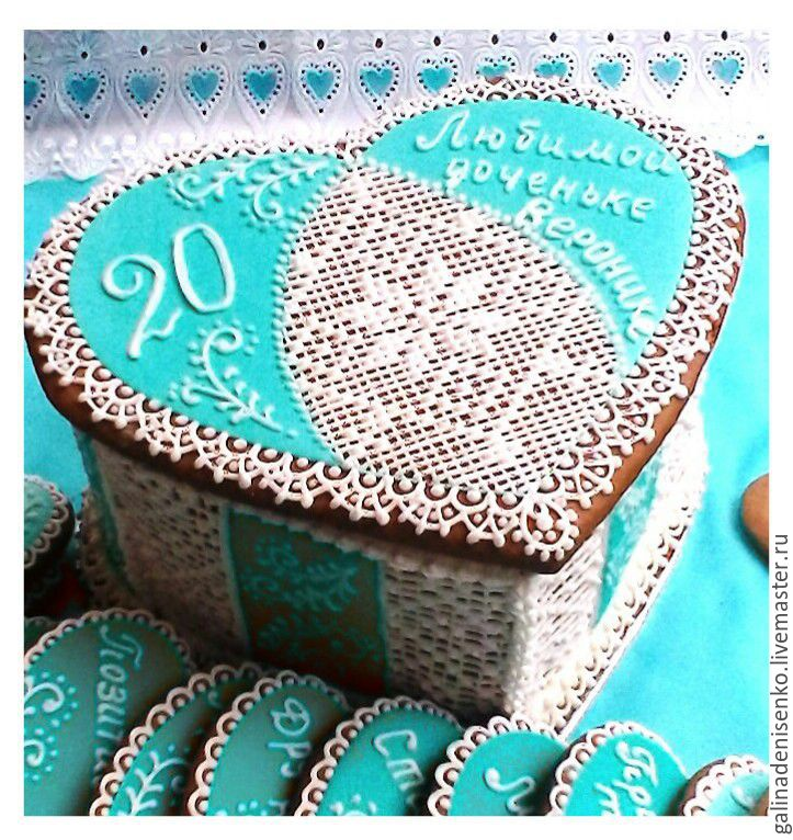 Gingerbread box Heart turquoise, Gingerbread Cookies Set, Rostov-on-Don,  Фото №1