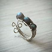 Украшения handmade. Livemaster - original item Silver ring with Labrador