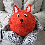 Подарки к праздникам ручной работы. Ярмарка Мастеров - ручная работа Лиса Варвара (игрушка из шерсти). Handmade.