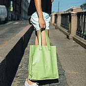 Сумки и аксессуары handmade. Livemaster - original item Leather bag light green. Handmade.