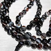 Фен-шуй и эзотерика handmade. Livemaster - original item Buddhist rosary made of onyx (eye agate), 108 beads Mahakala Knot. Handmade.