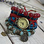 Watches handmade. Livemaster - original item Wrist watches with stones, velvet