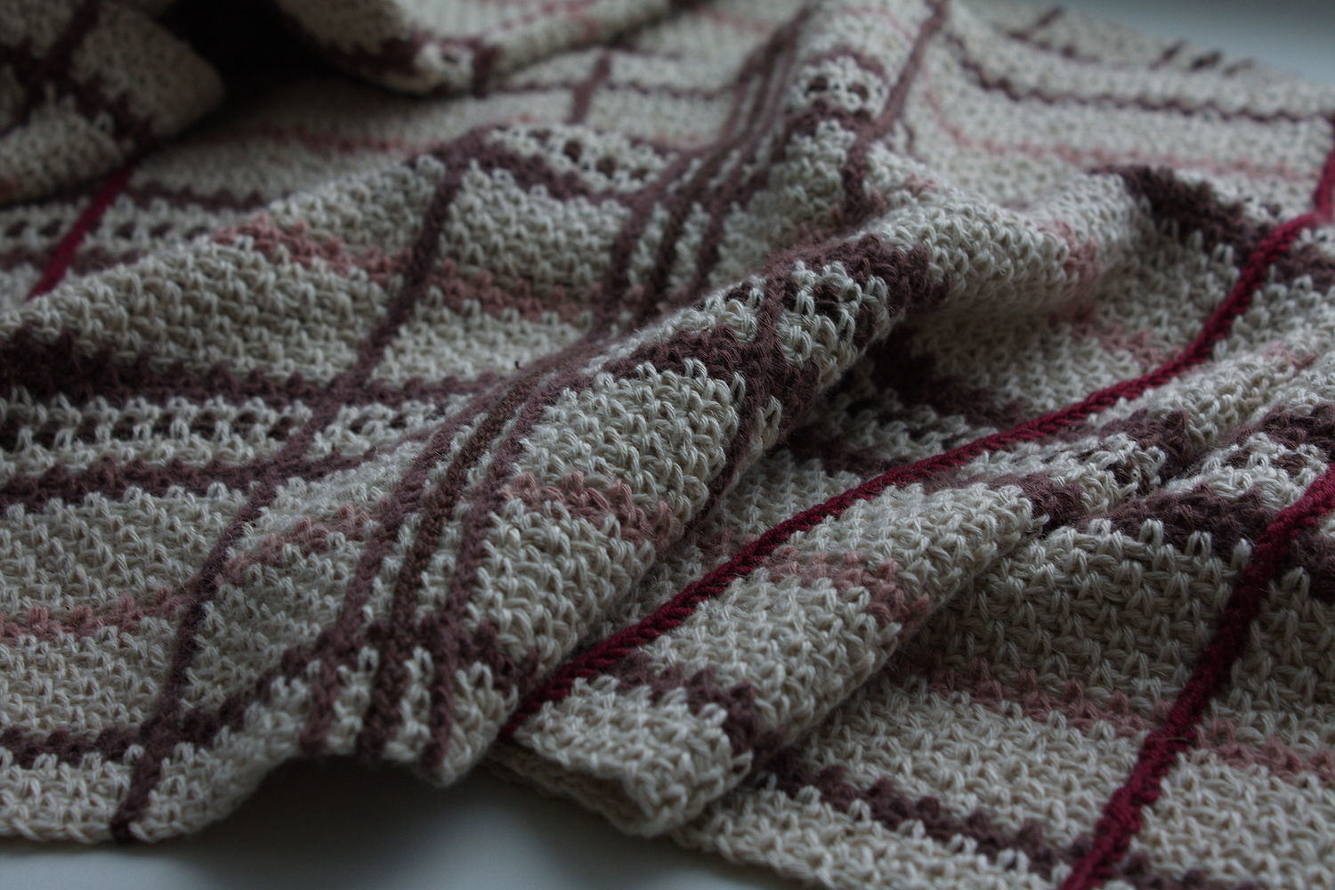 Beige knitted stole scarf, vegetable materials, Scarves, Saratov,  Фото №1
